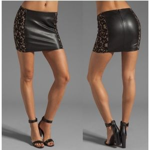 NWT High End Luxury Gorgeous Leather Skirt